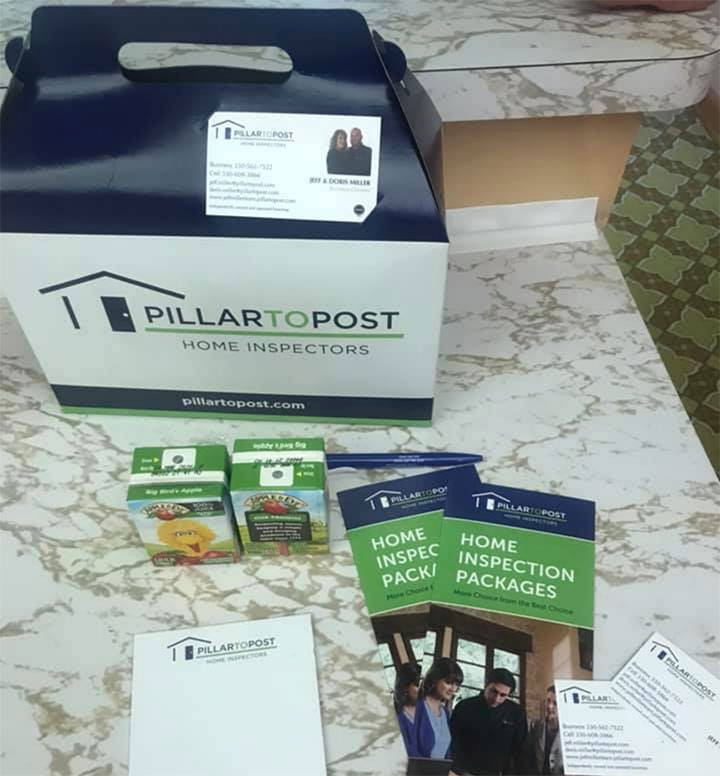 Your Corporate Concierge was enjoying this beautiful   day delivering goodie boxes for some lucky Real Estate Agents and homebuyers in Aurora for Jeff Miller Pillar to Post Home Inspectors.