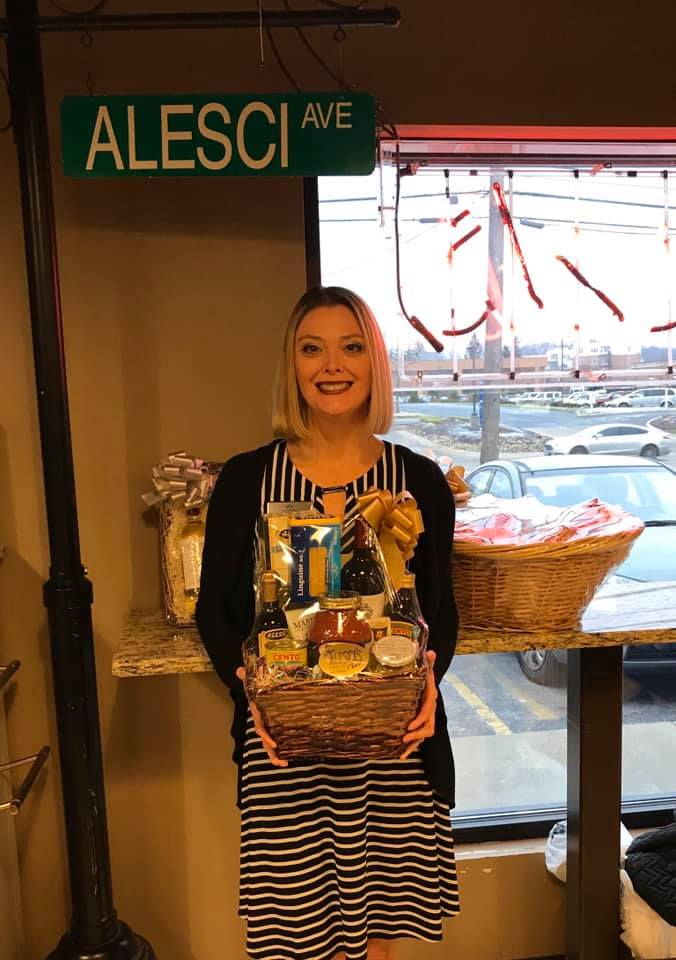 On the road delivering goodies for the wonderful clients of Associated Underwriters Insurance-AUI. Check out this Italian Dinner Classic basket from Jim Alesci's Place.