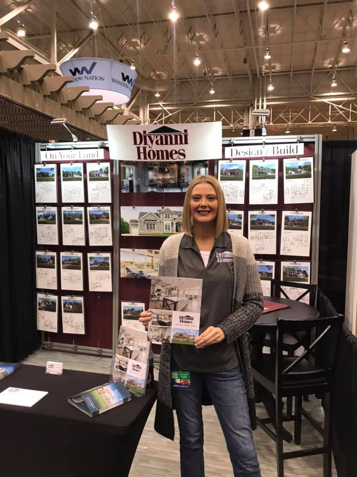 Stop at the Diyanni Homes booth 1299C and let's talk building your dream home! I'm here till 8pm!