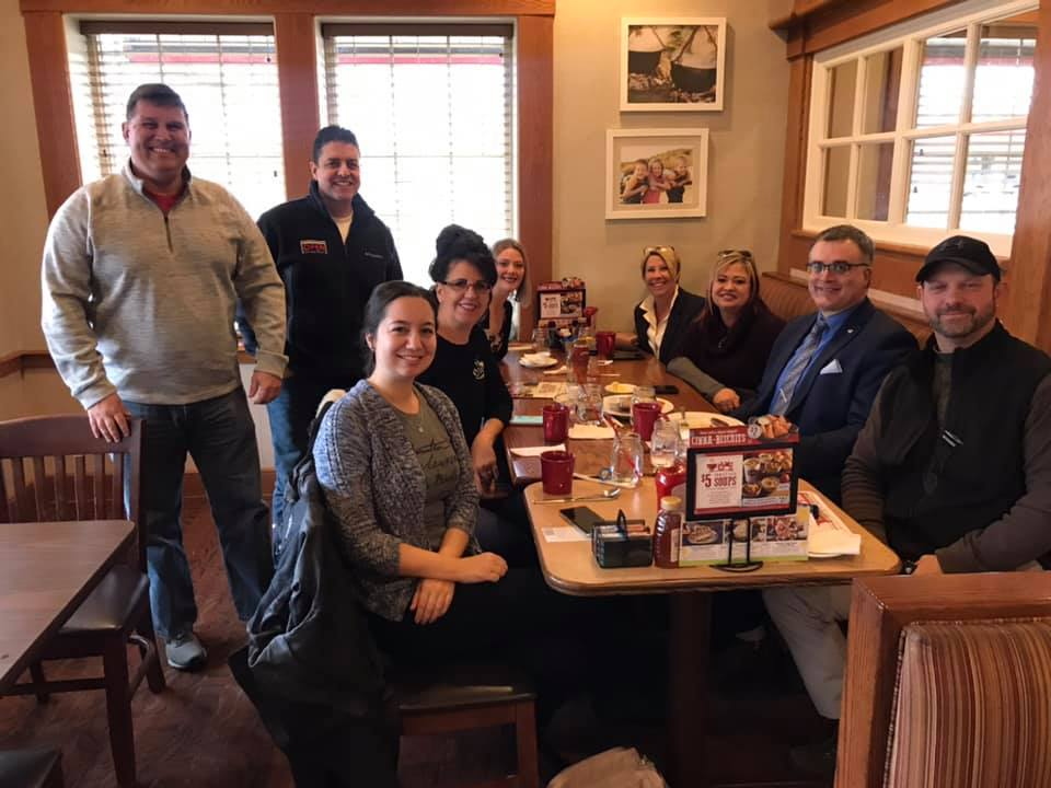 Fantastic morning meeting members of the Mahoning Valley Chapter of BNI. Thanks for the invite to the Bob Evans meet up after!