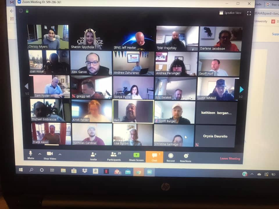 BNI has made it possible for chapters to still connect and build relationships with members through Zoom.  So happy to be with members of Gateway to Success, if even online!  Looking forward to next Friday!