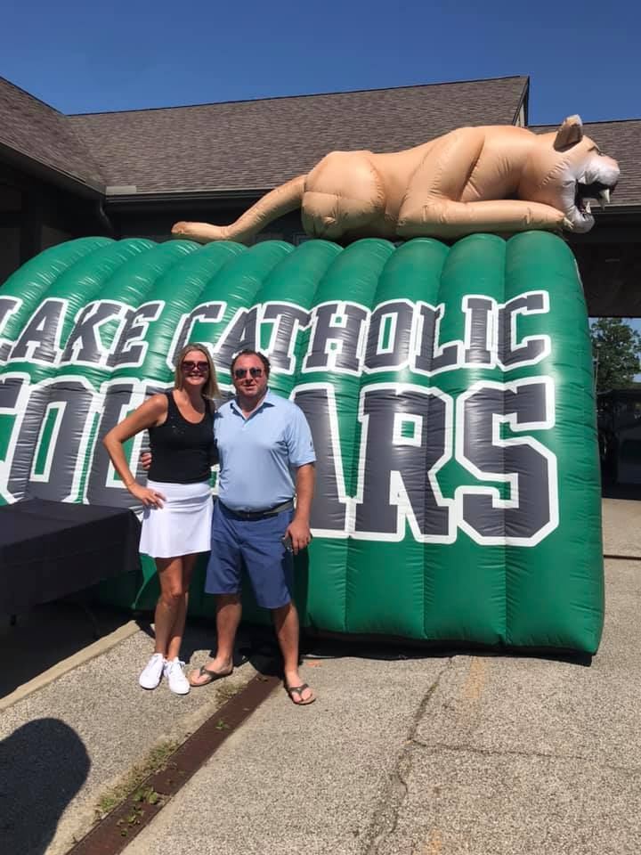 Such a beautiful day to represent Geoff Hoff at the Lake Catholic Gridiron Golf Outing. Who's interacting with attendees at your event?