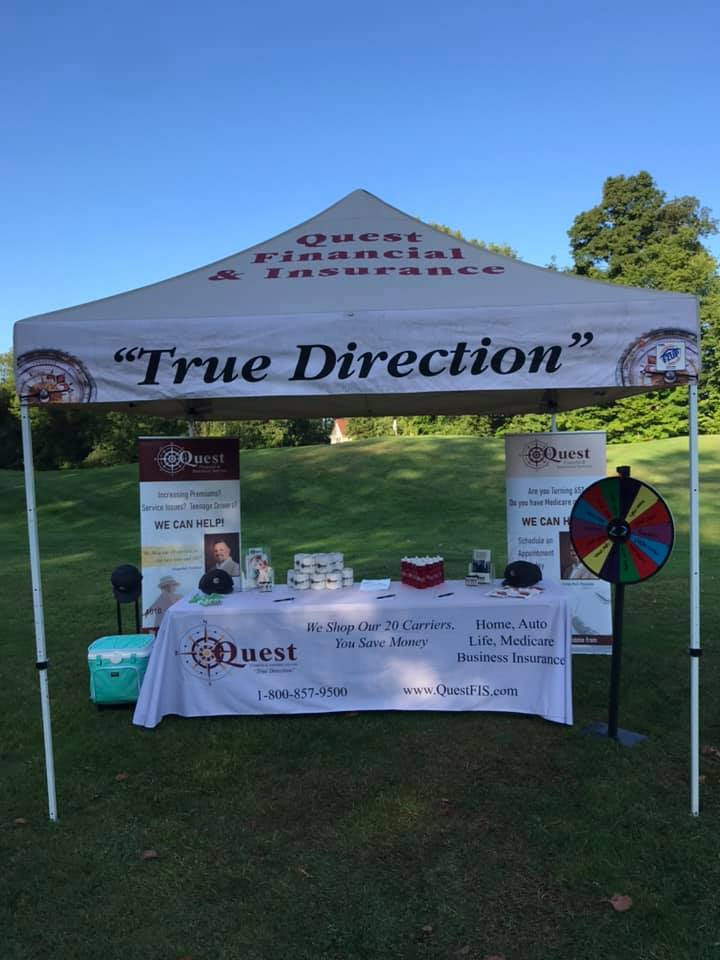 Although chilly and windy, it was a great day for a golf outing with the Twinsburg Chamber of Commerce representing Quest Financial and Insurance Services. Golfers are loved the Jell-O shots and free spins for cool swag!