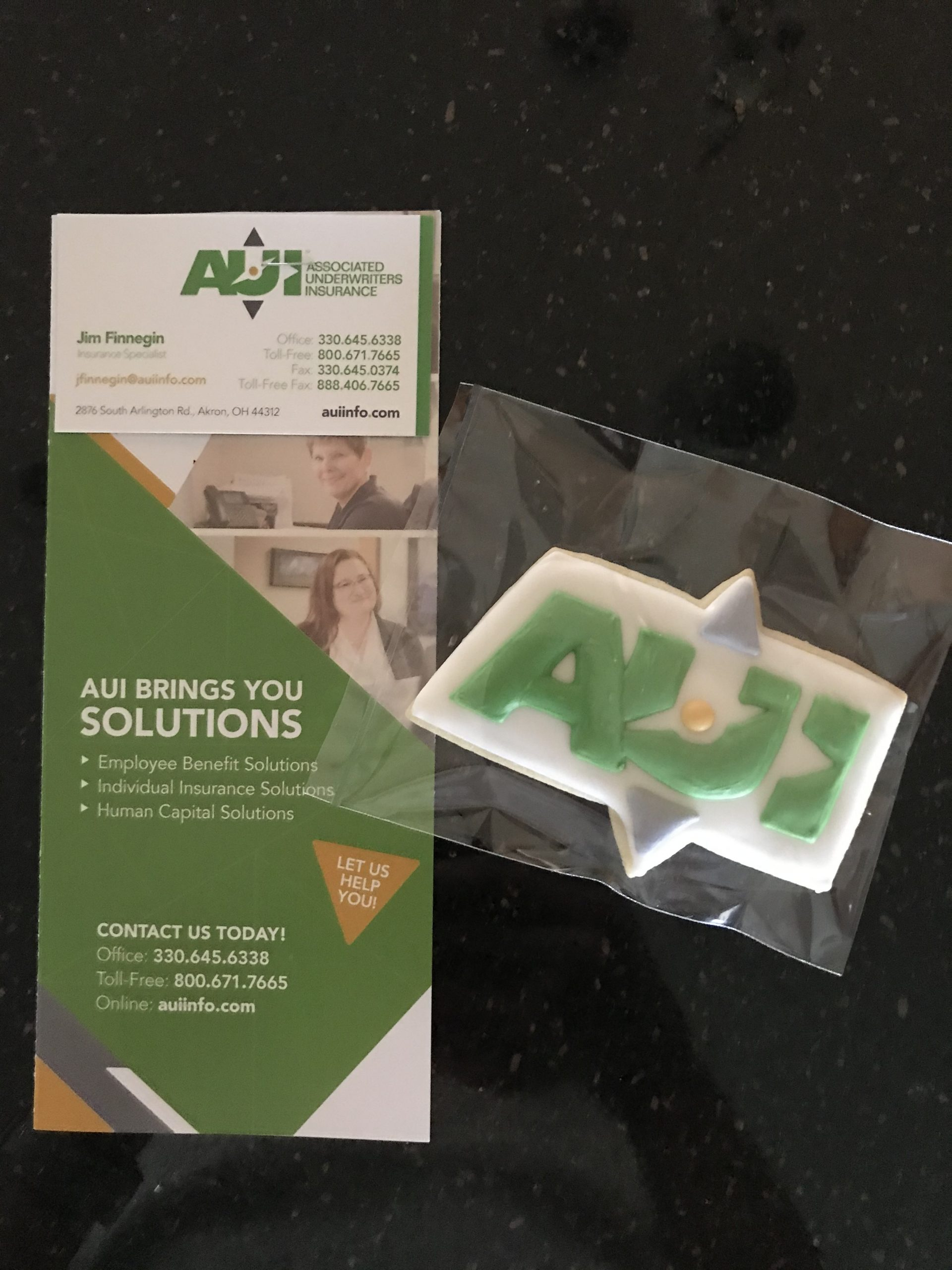 It was a beautiful day to be out for AUI delivering info and delicious cookies to NEO businesses.  Do you have your health insurance in place for 2021?