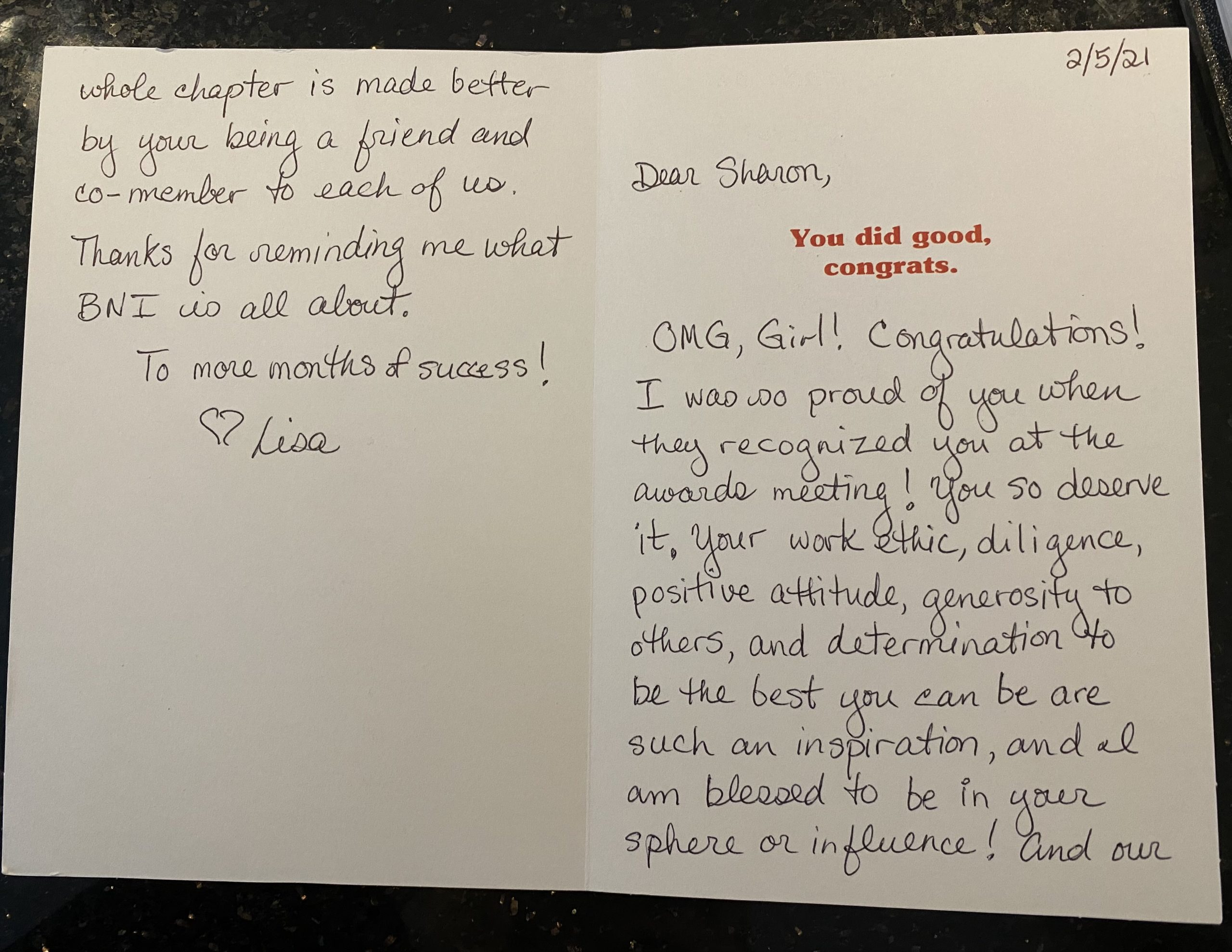 I'm beyond blown away and touched. Lisa, you're the sweetest. Thank you!