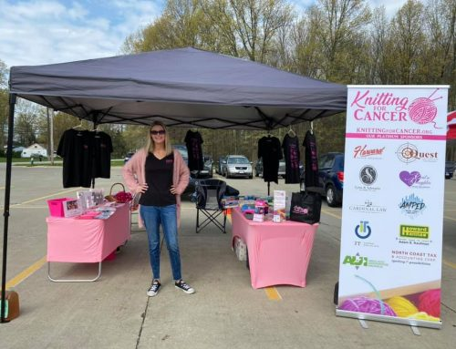 YCC represents Knitting for Cancer