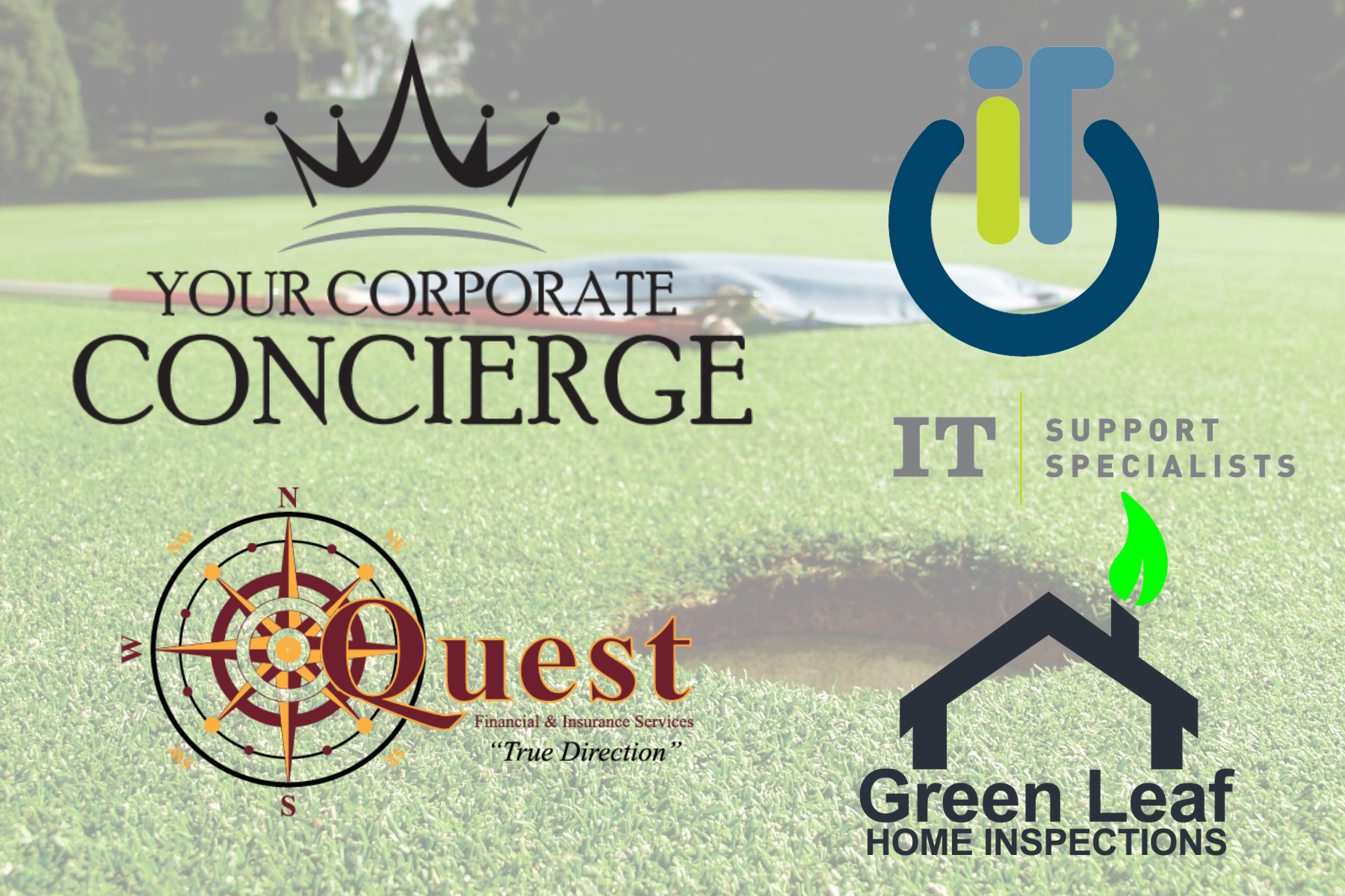 It's going to be a great summer representing IT Support Specialists, Quest Financial & Insurance Services, and Green Leaf Home Inspections on the golf course!