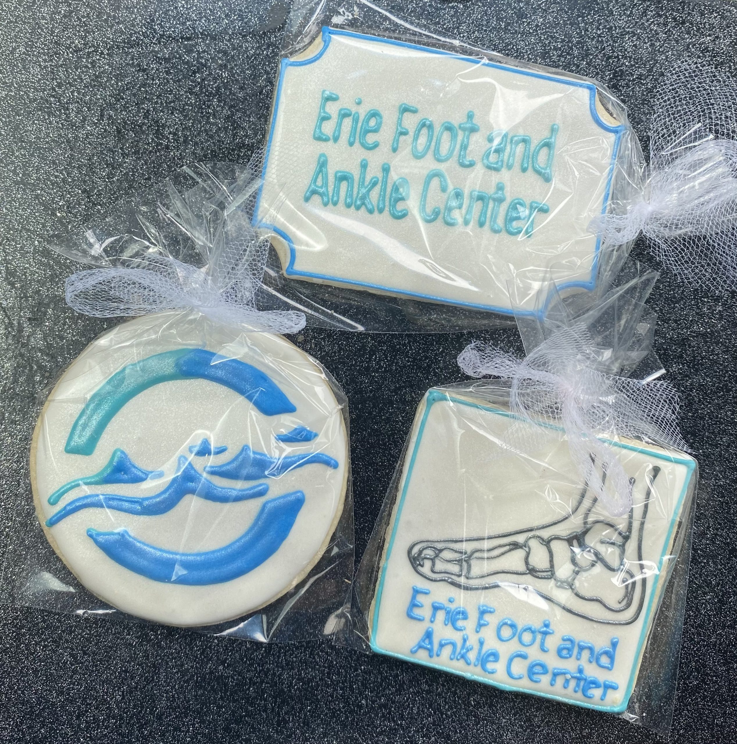 This Brand Ambassador has a new client to represent! It was a great day out connecting for Erie Foot and Ankle Center for the amazing, Dr. Jackie. How great are these cookies?!