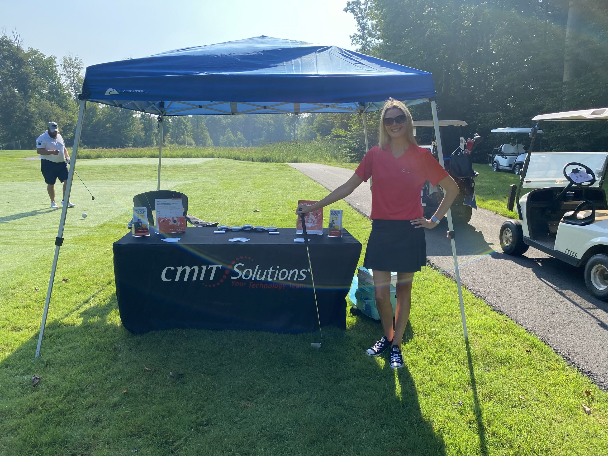 It was a beautiful day at the 2021 Solon Swing for the Green Golf Outing at Signature of Solon. This Brand Ambassador represented CMIT Solutions Hudson and engaged with over 140 golfers! They learned all about the services of CMIT Solutions and refreshed with our popular Jell-o shots. See you next year!