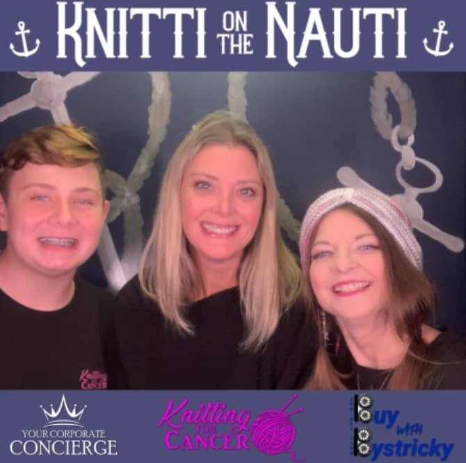 Wow, what a night aboard the Nautica Queen! Knitting for Cancer was able to raise over $3,000 to help bring comfort to cancer warriors. We are so proud to be a sponsor and part of such a great cause.